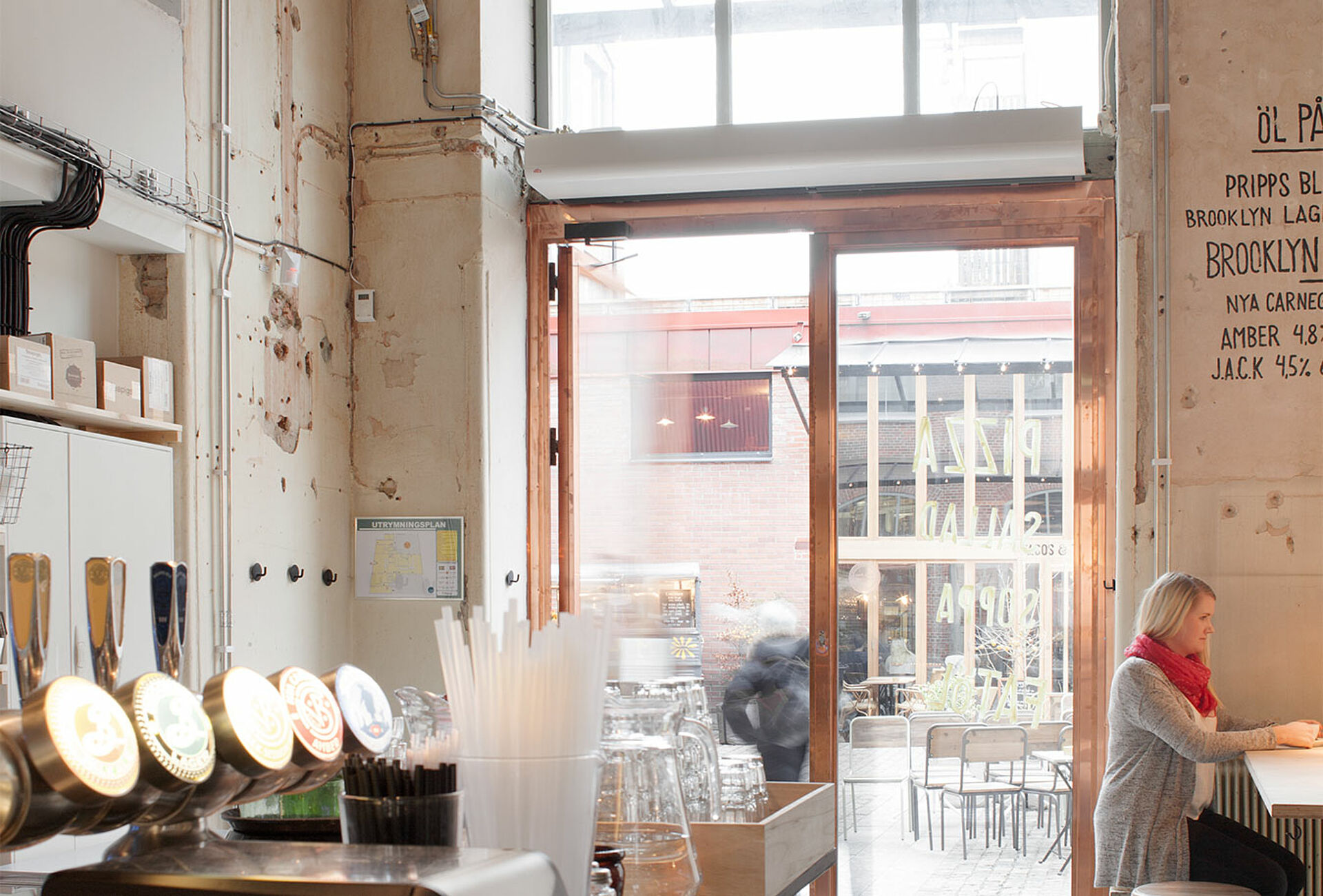 Frico Air Curtains Installed In Restaurant With Industrial